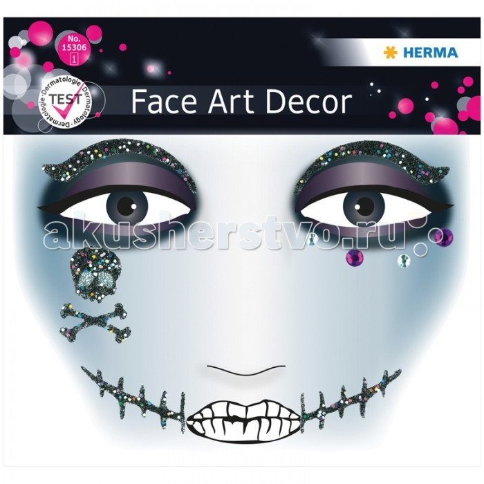 Herma Наклейки для лица 12х12.7 см Face Art PiratНаклейки для лица 12х12.7 см Face Art PiratHerma Наклейки для лица 12х12.7 см Face Art Pirat  Face Art (фэйс арт) – это новое направление творчества и искусства. Face Art нравится людям, любящим оригинальность и необычность в жизни. Face Art d&#233;cor от Herma - это серия наклеек для фэйс арта с наиболее популярными мотивами. Face Art d&#233;cor от Herma гламурно, стильно и ярко! Прошел дерматологические испытания.  Материал – пленка Размер листа – 128 х 120 мм Количество листов – 1 Многоразовые – нет<br>