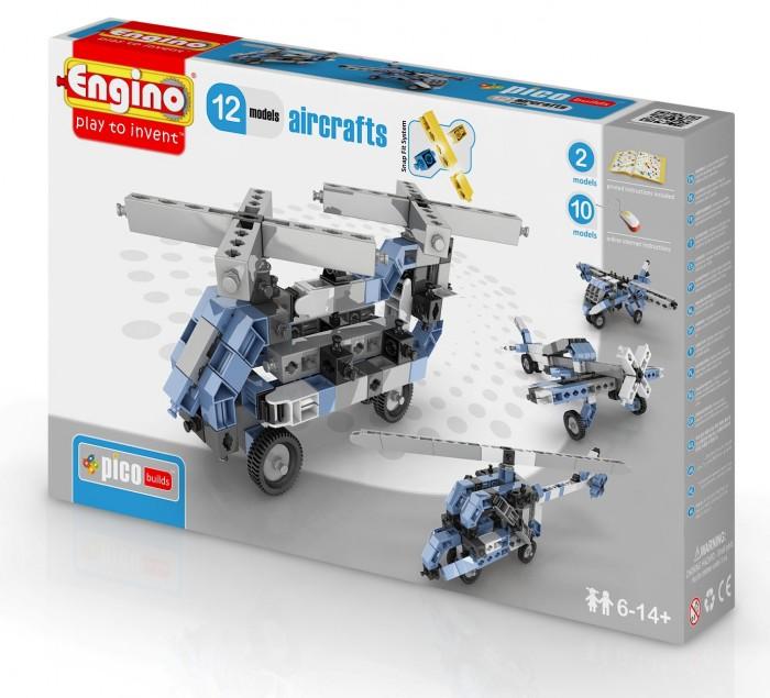 Конструктор Engino Eco Builds Самолеты 12 в 1Eco Builds Самолеты 12 в 1Engino Pico builds/inventor Самолеты 12 в 1.  Конструктор для начинающих обновленной серии Pico Builds. Позволит вашему ребенку собрать 12 различных моделей летательных аппаратов: 2 модели - по инструкции в комплекте, плюс 10 моделей - по онлайн-инструкции.<br>