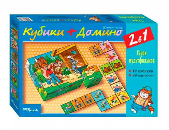 Дрофа Настольная игра Кубики + домино