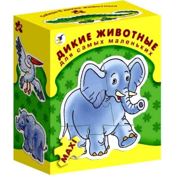 Дрофа Настольная игра Дикие животные серия Для самых маленьких