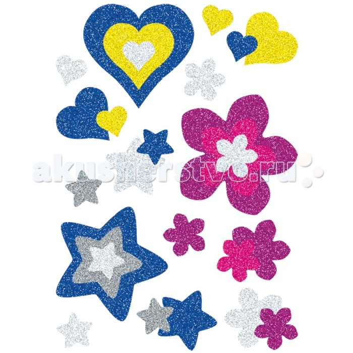 Herma Наклейки объемные 16х9 см Magic Сердце и цветы