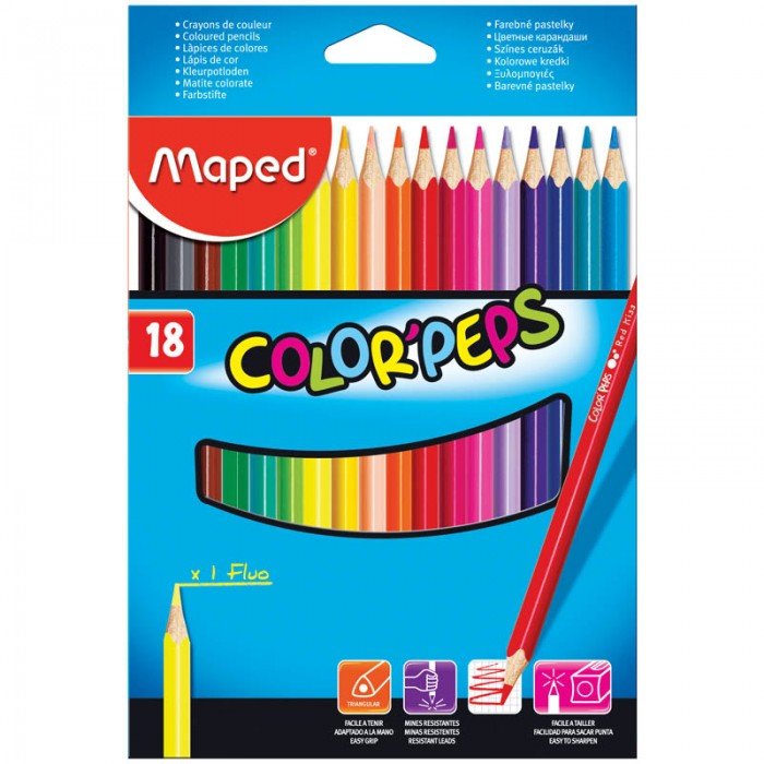 Maped ��������� Color Peps 18 ������