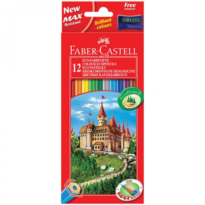 Faber-Castell Карандаши Eco Замок 12 цветов