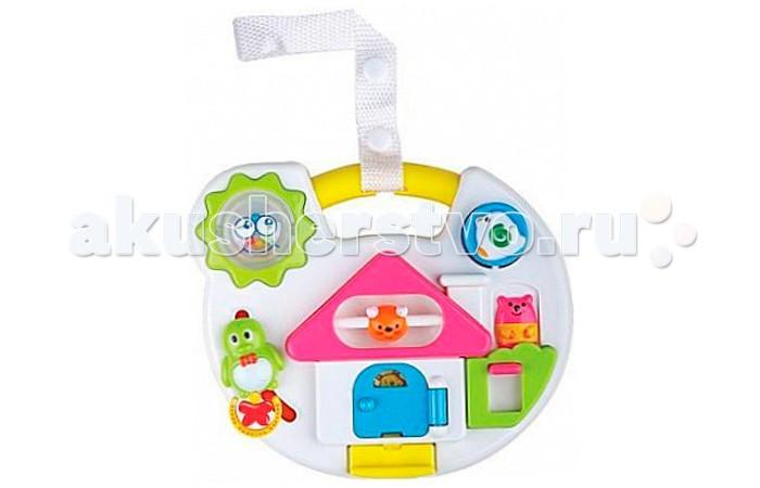 Подвесная игрушка Leader Kids Я познаю мирЯ познаю мирПодвесная игрушка Leader Kids Я познаю мир – необходимая вещь для правильного и гармоничного развития вашего малыша.   Его панель привлекает красками, а функции разнообразны: пищалки и погремушки двигаются в разных направлениях, играет мелодия. Ваш юный исследователь надолго погрузится в увлекательный мир неизведанного.<br>