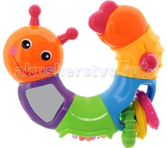 Погремушка Leader Kids Я познаю мирЯ познаю мирПогремушка Leader Kids Я познаю мир для младенцев от 6-ти месяцев.   Особенности: Благодаря яркой цветовой гамме и необычным звуковым эффектам (треск) игрушка концентрирует на себе внимание и интерес малыша.  Погремушка имеет вид гусеницы. Разделена на 4 разноцветных сегмента, в каждый из которых вмонтированы дополнительные несъемные игрушки (шарики, колечки, зеркальце).  Игрушка совершенно безопасна и удобна для малыша.<br>