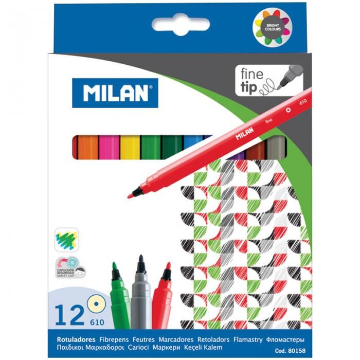 Фломастеры Milan 610 12 цветов