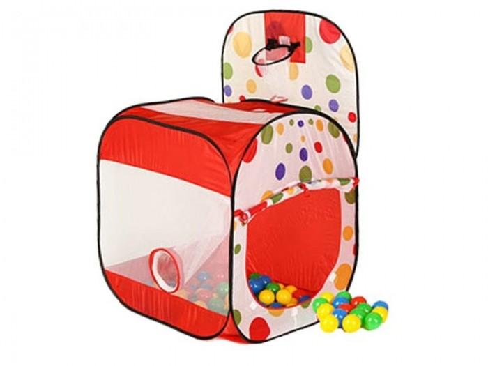 Calida Дом-квадрат с баскетбольным кольцомДом-квадрат с баскетбольным кольцомКрасочный и функциональный домик палатка от компании Calida непременно понравится Вашему ребенку. Ведь в домик можно забраться и поиграть в разные игры, побарахтаться в разноцветных мячиках, а еще с помощью прикрепленной корзины можно устроить настоящий баскетбольный матч, а также соревнования, кто больше шариков забросит в баскетбольное кольцо. Палатку можно устанавливать как дома, так и брать с собой на дачу, в деревню, на пикники, тем более, что именно для таких целей она упакована в компактную сумочку на молнии.  Этот игровой домик палатка прекрасно подойдет для игр деток от 3х лет. Изготовлена конструкция из нейлона, шарики пластиковые.   В комплект входят:  домик щит из тканевого материала с баскетбольным кольцом  100 мячиков сетчатая трубка удобная сумка для хранения и переноски палатки  Домик собирается очень просто: стоит его только достать из сумки, как эластичные каркасные трубы распрямляются сами. К одной из стенок домика Calida с помощью специальных веревочек и липучек прикрепляется тканевой щит с баскетбольной корзиной. На крыше палатки, прямо под корзиной предусмотрено отверстие, за которым следует предварительно подвешенная сетчатая трубка, проходящая по внутренней стенке домика и заканчивающаяся у нижнего бокового отверстия. Таким образом, мячик, брошенный ребенком и попавший в баскетбольное кольцо, следует в отверстие на крыше, далее катится по сетчатой трубке и выпрыгивает из домика через отверстие. Снимите трубу, - и домик будет заполняться разноцветными мячиками.   Кроме того, на крыше палатки расположены отверстия для шариков в виде цветка ромашки. Забрасывая мячики на крышу детки могут устроить соревнования на меткость и ловкость. Вход в домик выглядит в виде большого отверстия, которое может быть как закрыто тканевой дверкой, так и открыто, если ее свернуть и прикрепить сверху на липучку. Стены палатки выполнены из сетчатой ткани, что обеспечивает хорошую циркуляцию 