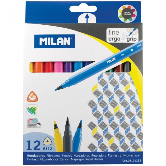 Фломастеры Milan 6112 12 цветов