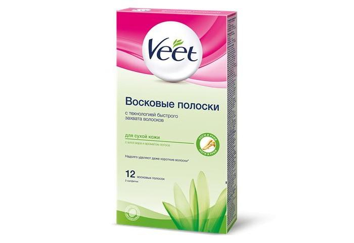 Veet Juicy Восковые полоски для депиляции сухой кожи 12 шт.  30 г