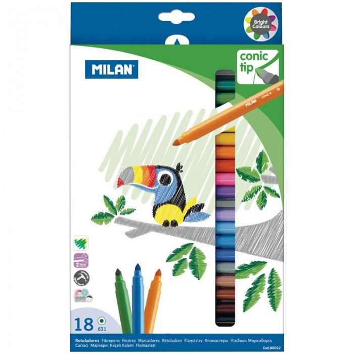 Фломастеры Milan 631 18 цветов