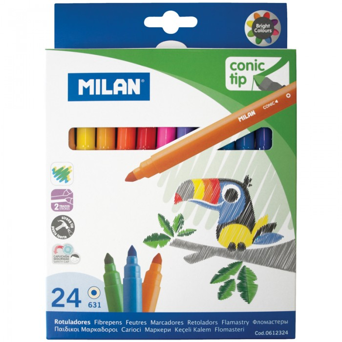 Фломастеры Milan 631 24 цвета
