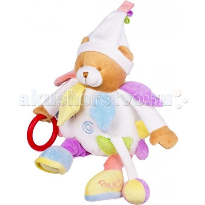 Подвесная игрушка Leader Kids Мишка 23 смМишка 23 смПодвесная игрушка Leader Kids Мишка не оставит Вашего малыша равнодушным.  Особенности: Яркий образ подвески, разнофактурные материалы, прорезыватели и звуковые элементы способствуют развитию воображения, сенсорных способностей, мелкой моторики рук, концентрации внимания, координации и последовательности движений Благодаря надёжному креплению подвеску можно закрепить на коляске, кроватке или автокресле  Веселый и добрый Мишка с забавной улыбкой и открытым взглядом поднимет настроение и заставит улыбнуться Различные текстуры материалов, узелки, петельки, погремушки помогают малышам правильно и гармонично развиваться. Вручите себе и малышу радость Изготовлено из гипоаллергенных материалов  Высота: 23 см<br>