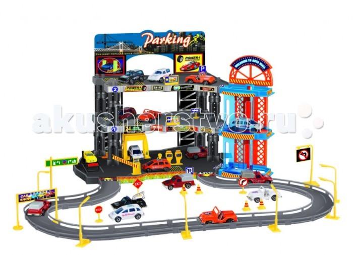 Dave Toy Игровой набор Полицейский участок с 2 машинками