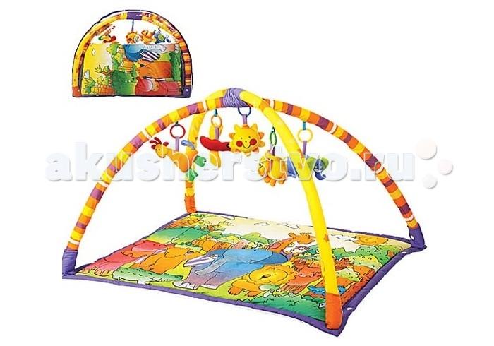 Развивающий коврик Leader Kids LKT0007LKT0007Развивающий коврик Leader Kids LKT0007 не только займёт вашего малыша и позволит маме заняться своими делами, но и поможет ребёнку в развитии мелкой моторики и других познавательных навыков.  Особенности: Яркая подстилка развлечёт и заинтересует вашу кроху, а мягкие красочные игрушки, подвешанные на складных дугах, стимулируют физическую активность, развитие координации движений, мелкой и общей моторики, развитию познавательных навыков, первичных навыков речи и общения у вашего ребенка.  Стараясь дотянуться до подвесок, ребёнок научится переворачиваться и садиться. В комплекте 5 ярких игрушек, все игрушки съемные.<br>
