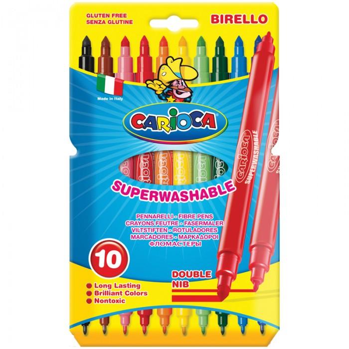 Фломастеры Carioca Berillo двухсторонние 10 цветов