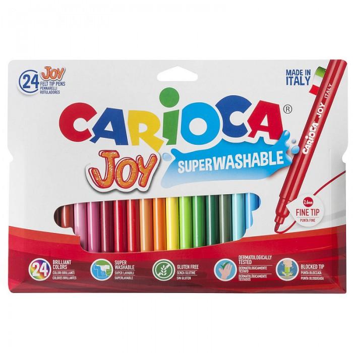 Фломастеры Carioca Joy 24 цвета в футляре