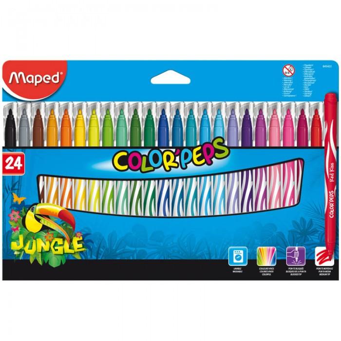 Фломастеры Maped Jungle 24 цвета