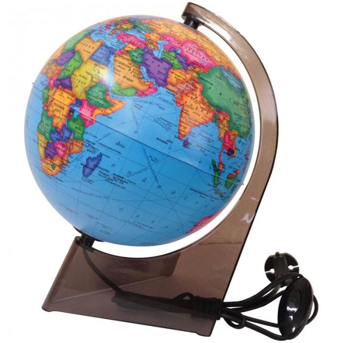 Глобусный мир Глобус политический 21 см с подсветкой на треугольной подставке