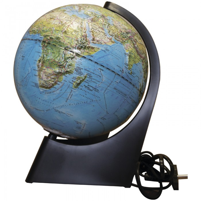 Глобусный мир Глобус физико-политический рельефный 21 см с подсветкой от Акушерство