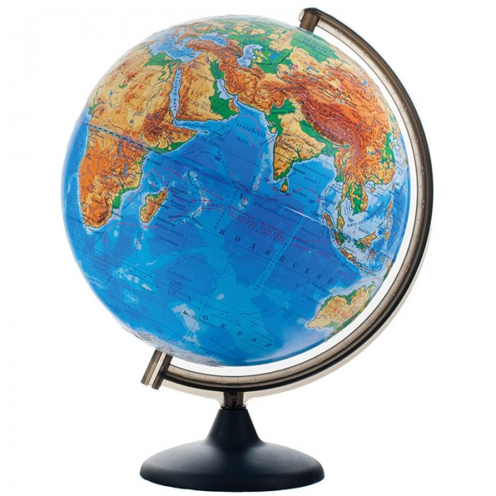 Глобусный мир Глобус физический рельефный 32 см