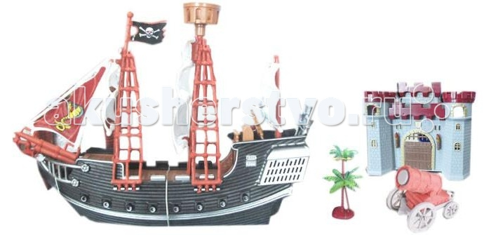 S+S Toys Игровой набор Корабль БарбароссаИгровой набор Корабль БарбароссаS+S Toys Игровой набор Корабль Барбаросса не оставит равнодушным ни одного любителя морских историй.   Данная модель выполнена из высококачественного пластика и экологически безопасна.   Изделие непременно заинтересует ребенка и позволит ему весело провести свое свободное время в компании пиратов.<br>