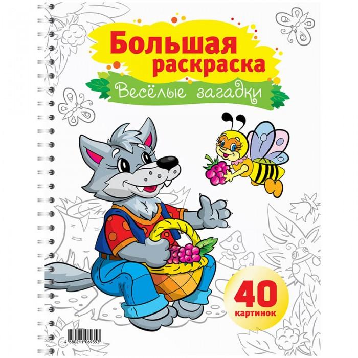 Раскраска Спейс Большая А4 на гребне Весёлые загадки 40 страниц