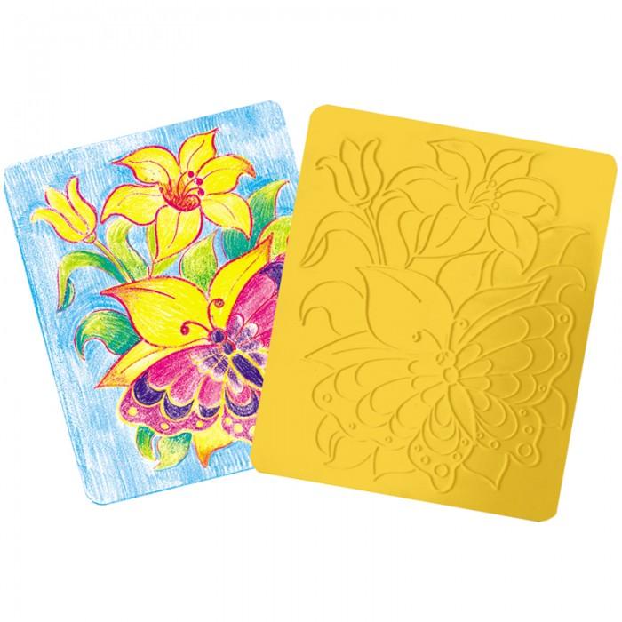 Луч Трафарет-раскраска рельефный Бабочки