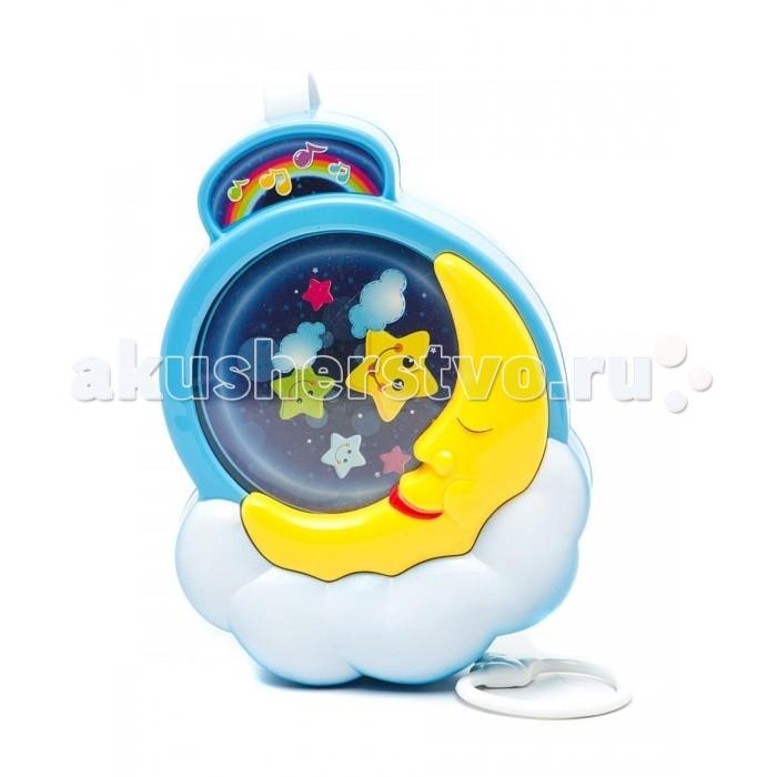 Подвесная игрушка S+S Toys Лунная ночьЛунная ночьПодвесная игрушка S+S Toys Лунная ночь, к которой на шнурке крепится пластиковое кольцо.   Потяните кольцо вниз, и оно будет медленно подниматься вверх под звучание негромкой успокаивающей мелодии.   Эта спокойная музыка поможет малышу успокоиться и заснуть.   Музыкальную игрушку-подвеску Лунная ночь прикрепить к кроватке или коляске.<br>