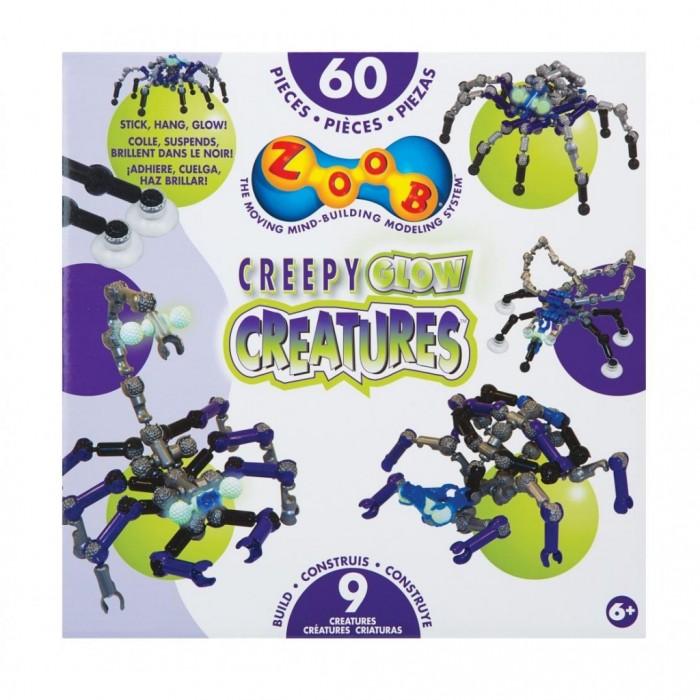 Конструктор Zoob Glow Creepy Creatures 60 элементов