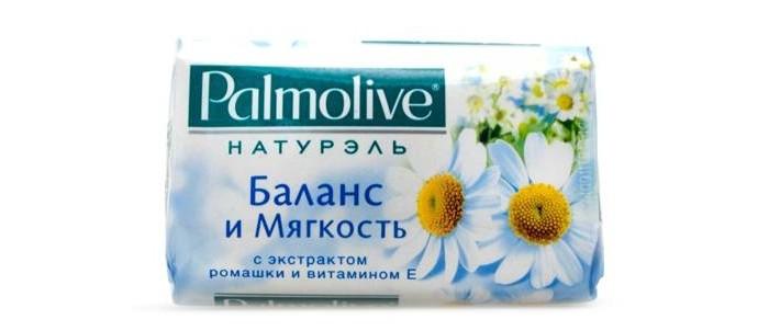 Palmolive Кусковое мыло Баланс и Мягкость (с экстрактом ромашки и витамином Е) 90 г