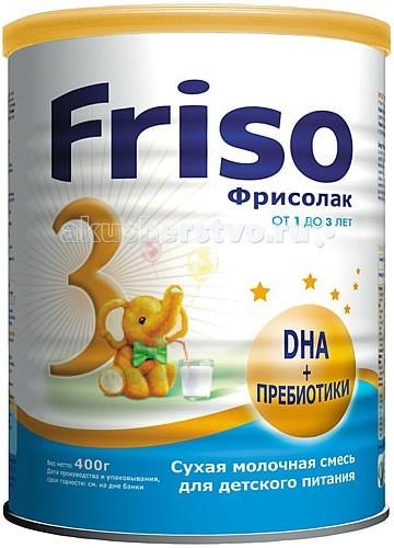 Молочные смеси Friso Молочная смесь Фрисолак 3 с 12 мес. 400 г