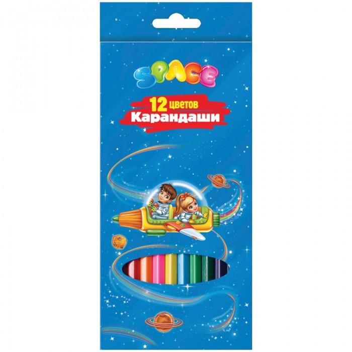 Спейс Карандаши Космонавты 12 цветов