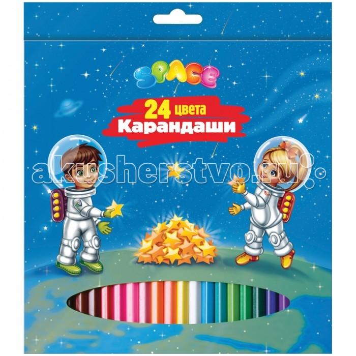Спейс Карандаши Космонавты 24 цвета