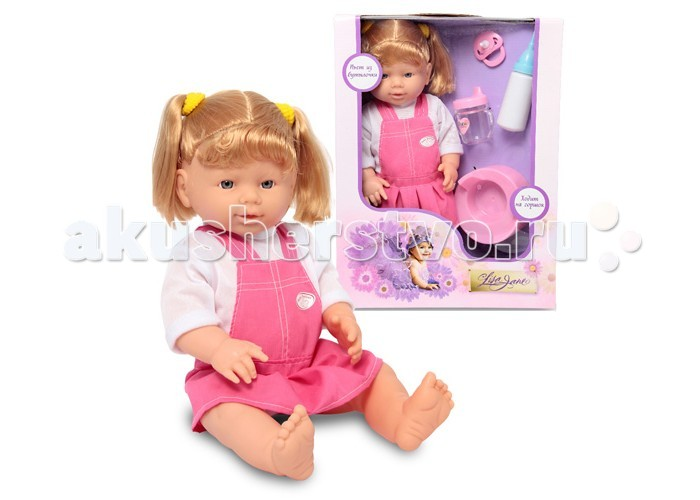 Lisa Jane Кукла-пупс писающаяКукла-пупс писающаяLisa Jane Кукла-пупс писающая 43215  Кукла-пупс Lisa Jane 38см с горшком и бутылочкой в наборе.  Как весело играть в такую куклу! Набери воду в бутылочку и напои куклу, усади на горшочек.  С такой куклой популярная игра дочки-матери станет еще увлекательней!<br>