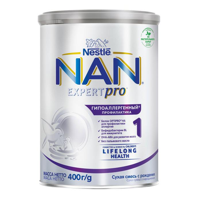 Молочные смеси NAN Заменитель Гипоаллергенный 1 с рождения 400 г