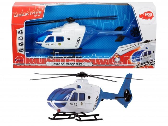 Dickie Полицейский вертолет 36 смПолицейский вертолет 36 смDickie Полицейский вертолет 36 см обладает высокой реалистичностью за счет детальной проработки.   Модель сделана реалистично, есть звуковые и световые эффекты, инерционный механизм.<br>