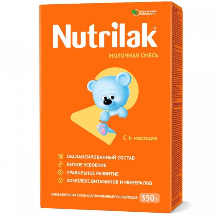 Nutrilak Заменитель 2 с 6 мес. 350 гЗаменитель 2 с 6 мес. 350 гNutrilak 2 Смесь молочная сухая адаптированная последующая Для смешанного и искусственного вскармливания детей старше 6 месяцев Рекомендуется при недостатке или отсутствии материнского молока. Сбалансированная смесь, обогащенная комплексом витаминов, макро- и микроэлементами, содержит полиненасыщенные жирные кислоты, 40% сывороточных белков и все необходимые ингредиенты для нормального пищеварения и обмена веществ детей старше 6 месяцев. В состав смеси входят железо, цинк, селен, необходимые для профилактики анемии и укрепления иммунитета.  Состав: Сухое обезжиренное молоко, растительные масла (пальмовое, кокосовое, соевое, кукурузное), сухая деминерализованная молочная сыворотка, мальтодекстрин, лактоза, минеральные вещества (цитрат калия, карбонат кальция, хлорид натрия, сульфат железа, сульфат цинка, сульфат меди, хлорид марганца, йодид калия, селенит натрия), витамины (аскорбиновая кислота, токоферол ацетат, никотинамид, пантотеновая кислота, рибофлавин, ретинол ацетат, пиридоксин гидрохлорид, тиамин гидрохлорид, фолиевая кислота, филлохинон, d-биотин, холекальциферол, цианокобаламин), эмульгатор (лецитин), таурин, инозит, L-карнитин, антиокислитель (аскорбилпальмитат)  Необходима консультация специалистов. Молочная смесь предназначена для питания детей с 6 месяцев.<br>