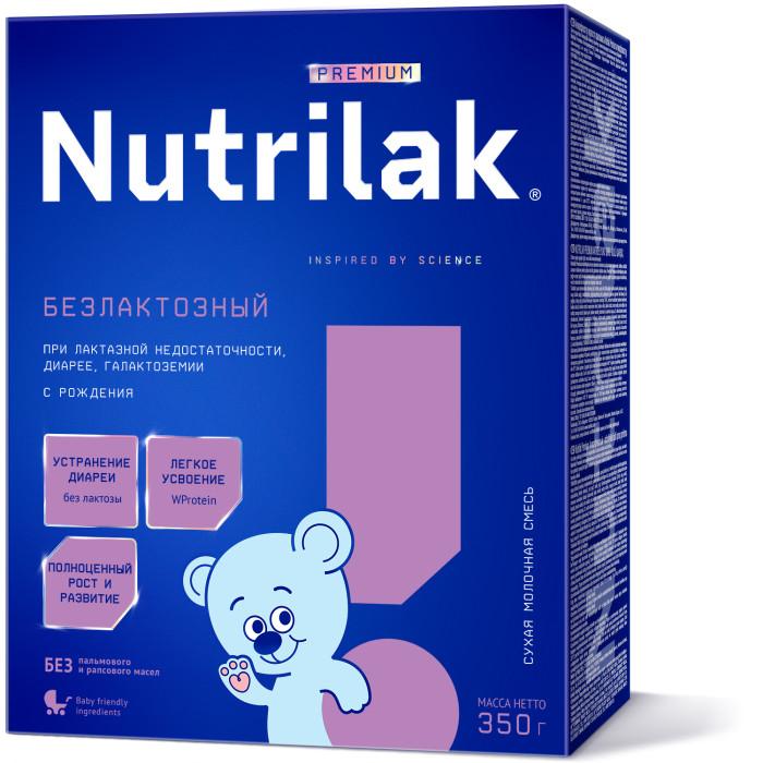 Nutrilak Заменитель Безлактозный+ с 0 мес. 350 г