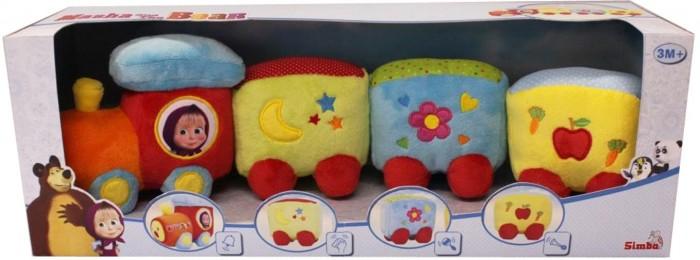 Развивающая игрушка Simba Паровозик плюшевый Маша и МедведьПаровозик плюшевый Маша и МедведьSimba Паровозик плюшевый Маша и Медведь обязательно понравится вашему ребенку. Игрушка поможет малышу развить тактильное, звуковое и цветовое восприятия, воображение, координацию движений и мелкую моторику рук.<br>