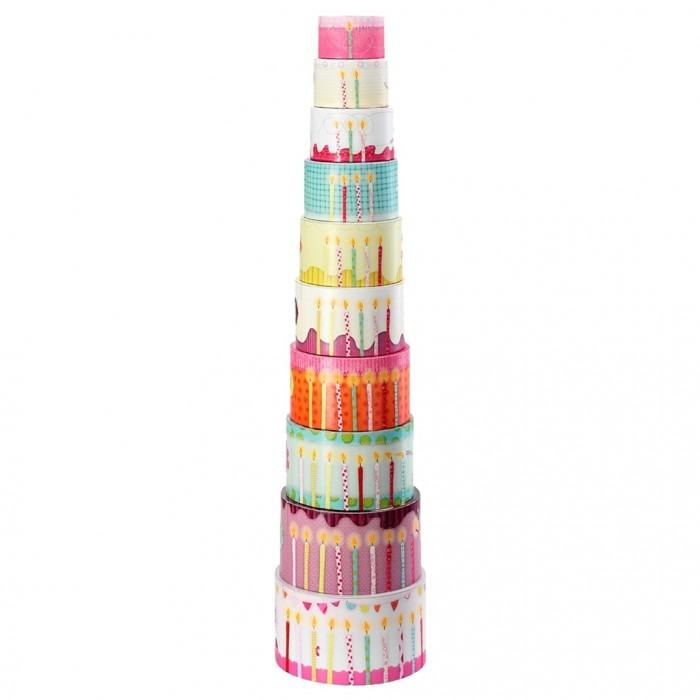 Развивающая игрушка Lilliputiens Набор цилиндров-пирамидок Гусеница Джульетта
