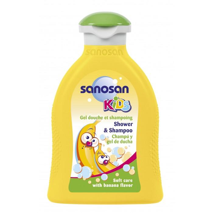 Sanosan Гель для душа и шампунь с ароматом банана 200 мл