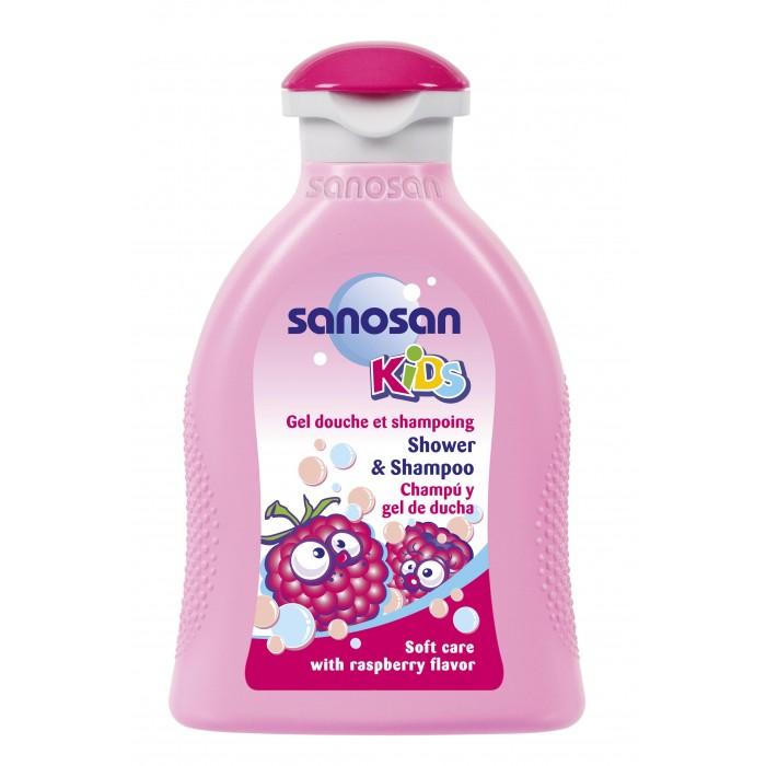 Sanosan Гель для душа и шампунь с ароматом малины 200 мл