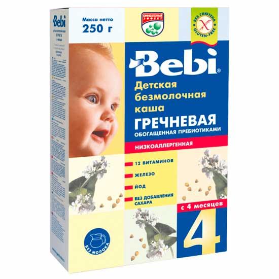 Bebi Безмолочная Гречневая каша низкоаллергенная с пребиотиками с 4 мес. 200 г