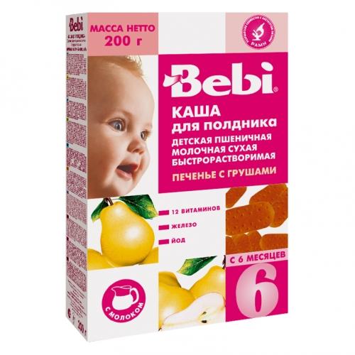 Bebi Молочная Пшеничная каша Печенье с грушей с 6 мес. 200 г