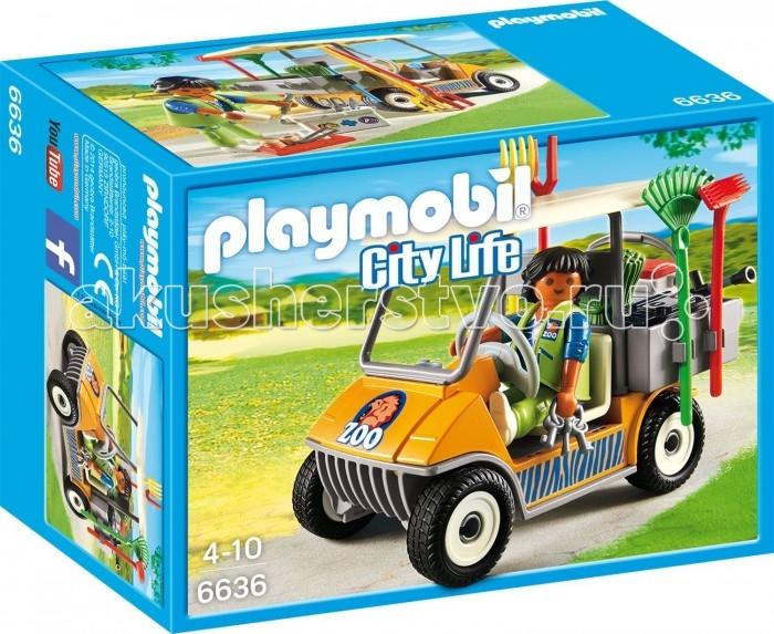 Конструктор Playmobil Зоопарк: АвтомобильЗоопарк: АвтомобильPlaymobil Зоопарк: Автомобиль.  Из деталей данного игрового набора ребенок сможет собственноручно собрать небольшую машинку, за руль которой можно посадить фигурку смотрителя зоопарка. Игрушечный автомобиль имеет багажник, в который свободно помещаются маленькие аксессуары в виде бинтов, щипцов, шприца.   На специальных держателях, расположенных по бокам, размещается садовый инвентарь. С этим набором можно играть отдельно или объединить его с другими наборами из серии Зоопарк, что сделает игру более увлекательной. Развитие навыков. Во время игры с конструктором развивается воображение, внимание, зрение, тактильное восприятие, мелкая моторика, а также координация движений рук.<br>