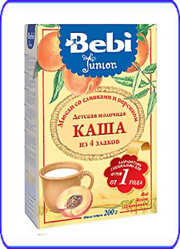 Bebi Молочная каша Junior Мюсли со сливками и персиком с 12 мес. 200 г