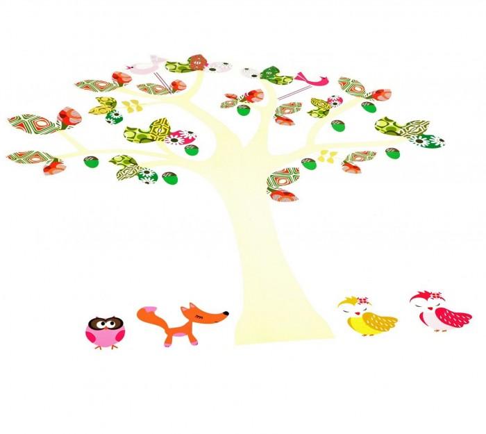 Bondibon Набор декоративных наклеек на стену 50х70 см Чудо-Дерево