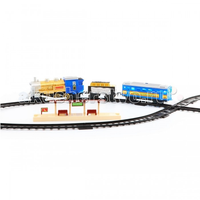 Bondibon Железная дорога Восточный экспресс с платформами - игровой набор из 22 деталей