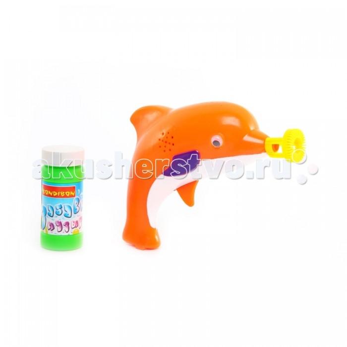 Bondibon Пистолет с мыльными пузырями Забавные пузыри на батарейках Дельфин от Акушерство