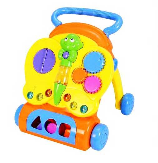 Ходунки Simba каталка - SimbaкаталкаХодунки-каталка Simba помогут малышу сделать первые шаги, а игровой центр в виде симпатичной бабочки развлечет и поможет развитию зрительно-моторной координации малыша.  Описание: cортер (треугольник, квадрат, круг) крутящиеся элементы кнопки на крыльях бабочки предназначены для воспроизведения звуковых и световых эффектов глаза у бабочки двигаются при нажатии кнопку мини-книжка с забавными животными<br>